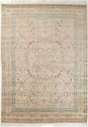 9x12 Hand-knotted Lahore Carpet Oriental Beige Fine Wool Area Rug D18552