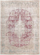 10x14 Hand-knotted Vintage Antique Carpet Oriental Red Fine Wool Area Rug D57272