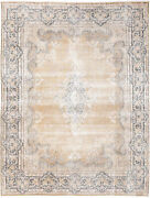 10x13 Hand-knotted Vintage Antique Carpet Oriental Gold Wool Area Rug D57254