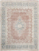 9x12 Hand-knotted Vintage Antique Carpet Oriental Rust Fine Wool Area Rug D57275