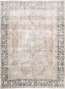10x13 Hand-knotted Vintage Antique Carpet Oriental Rust Wool Area Rug D57257