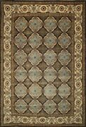 Traditional Hand Made Ariana Area Rug Green/beige Color Turkish Rugs 10 X 14