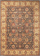 10x14 Hand-knotted Farhan Carpet Traditional Grey Fine Wool Area Rug D34817