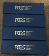 Lot Of 4 Blue Lightly Used Pcgs Boxes