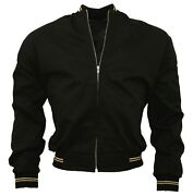 Relco Menand039s Black Monkey Jacket Light Weight Bomber Made In England Skins Mod