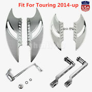Front Rear Floorboard Brake Arm Set Shift Lever Pegs Fit For Touring 2014-2019