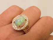 Fiery Fiery Large Amazing 360 Degree Neon Colors Opal And Diamond Ring Video