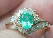 14k Yg Gia Appraised Paraiba Tourmaline And Diamond Ring Awesome Color - Video