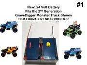 New 24v Battery Replacement For Grave Digger Power Wheels Gravedigger Ver. 1