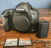 Canon Eos 5d Mark Iii Body Only With Charger, Battery And 2 Memory Cards