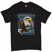 United States Veteran Menand039s T-shirt Support Our Troops American Eagle Tee