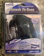 Boatbuckle Brand Gunwale Tie-down 1 Stainless Steel Ratchet