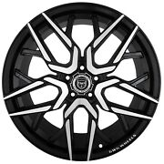 4 G44 Nigma 20x10 Inch Black Rims Fits Nissan Rogue Select S 2014 - 2015