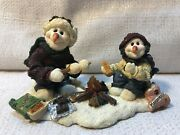 Boyds Bear Wee Folkstone Graham And Cracker Makin S'mores 1e Figurine 36514