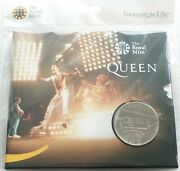 2020-iiii Great Britain Music Legends Queen Live Andpound5 Five Pound Coin Pack