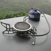 Folding Cooking Furnace Camping Gas Stove Stainless Steels Isobutane Mixture New
