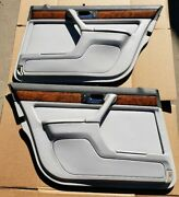 Bmw E32 750il Rear Door Panels With Sun Shades / Blinds /dove Grey /full Leather