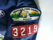 Vintage Gerald R Ford Council Cub Scout Shirt,vest And Scarf Youth Medium