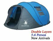 Throw Pop Up Tent Outdoor Automatic Double Layers Polyester Fabric Camping Tents