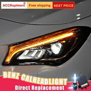 New For Benz Cla Headlights Assembly All Led Bi Lens Projector Led Drl 2014-2019
