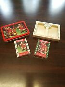 New 2 Deck 1993 Coca-cola Santa Claus Christmas Playing Cards Limited Edition