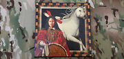 Rare Jd Challenger Signed Native American Indian Art Canvas Genuine 2