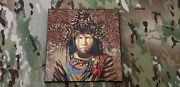 Rare Jd Challenger Signed Native American Indian Art Canvas Genuine 3