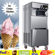 20l/h Commercial 3 Flavors Soft Ice Cream Machine Stainless Steel Automatic Usa