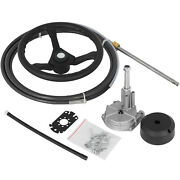 Rotary Steering System Outboard Kit 17 Feet Cable Ss13717 Marine With 13 Wheel