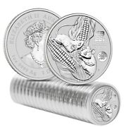 Roll Of 20 - 2020 1 Oz Silver Lunar Year Of The Mouse / Rat Dragon Privy Bu
