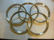 1940 - 1948 Ford Outer Beauty Rings 16 Original Ford Set Of Five Stainless