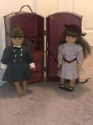 Pleasant Company Original American Girl Samantha And Molly Dolls W/trunk Andoutfits