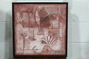 Mixed Media Painting By Carreno Abstract Original Brutalist Paul Evans Era