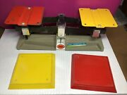 Vintage Ohaus Scientific Metal Scale Frey Scientific Co. Scale And Trays