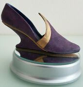 Just The Right Shoe By Raine 1999 Qvc Italian Racer 25003 Purple