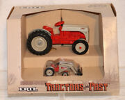 Ford 8n Tractors And Loader 116 And 143 Ertl Toy Set 867 Tractors Of The Past 1987