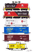 N De M National Railways Of Mexico 11x17 Poster By Andy Fletcher Signed
