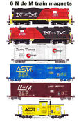 N De M National Railways Of Mexico Set Of 6 Magnets Andy Fletcher