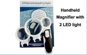 3x 10x 16x Hand Held Interchangeable Led Lenses Magnifying Glass Reading Led