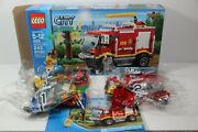 Lego 4208 City Fire Truck 4x4 243 Pc Open Box Sealed Bags