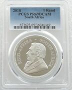 2018 South Africa Krugerrand Silver Proof 1oz Coin Pcgs Pr69 Dcam - Issue 15000