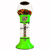Original Wizard Spiral Gumball Machine Green Red Track Color 50 Cents Mech