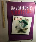 Huge Subway Poster David Bowie 1. Outside 1995 Brian Eno Art Rock Industrial
