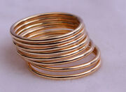 10k Gold Ringsstacking Ringsround Rings50 Pieces Lotsolid Goldfine Rings