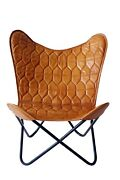 Buy 2 Get 50 Off Leaves Style Butterfly Chair Iron Stand And Leather Cover
