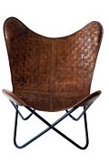 Buy 2 Get 50 Off Classic Retro Butterfly Chair Iron Stand And Leather Cover