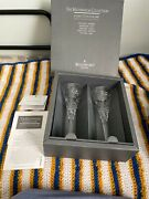 Waterford Crystal Millennium Collection Peace Toasting Flutes New In Box