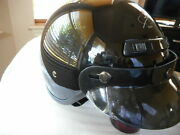 New Motorcycle Superior Black Half Helmet Size Small Size S 07-0420