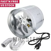 Inline Duct Booster Fan 4 6 8 Inch Ventilation Exhaust Air Blower And Duct Hose