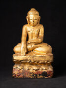 Antique Wooden Burmese Buddha Statue From Burma Early 19th Century